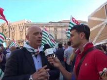 Manifestazione 18 Luglio 2016 Slp Cisl - Intervista a Enzo Cufari Segretario Regionale SLP Cisl Calabria