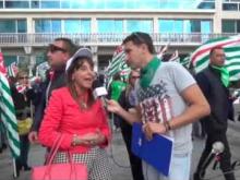Intervista a Ester Ciciaro (Cisal Failp) - Sciopero Generale Poste Italiane (Catanzaro) 04/11/16