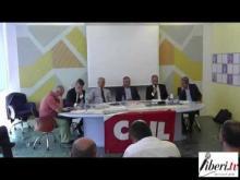 Il tavolo dei relatori del convegno di Catanzaro Manifesto per la buona finanza