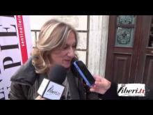 Intervista a Graziella Astorino Presidente sentinelle in piedi - Sentinelle in piedi a Lamezia Terme (CZ) 30/11/14