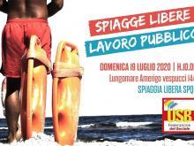 SPIAGGE LIBERE LAVORO PUBBLICO - Ostia 19 luglio 2020