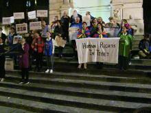 Flash mob organizzato da Società Libera per il rispetto dei Diritti umani 22 marzo 2019
