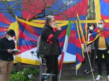 Claudio Cardelli - 62° Anniversario dell'insurrezione di Lhasa - Roma  #FREETIBET