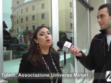 Un momento delle interviste alla manifestazione di Catanzaro contro le mafie
