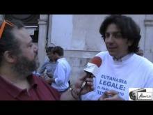 Marco Cappato - Walk Around per l'Eutanasia legale organizzato dall'Ass. Luca Coscioni 11/09/14