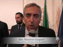 Intervista al Senatore Maurizio Gasparri in visita a Soveria Mannelli (Cz)