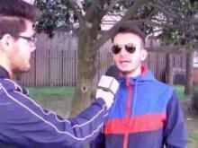 Un momento delle interviste di strada a Catanzaro
