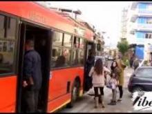 Una fermata degli autobus a Catanzaro