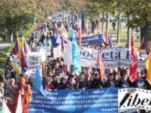 Un momento della marcia a Parigi, nel 2013