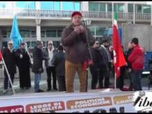 Un momento della manifestazione di Catanzaro