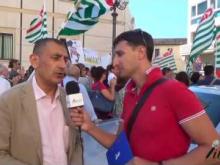 Manifestazione 18 Luglio 2016 - Intervista Paolo Tramonti Segretario Generale SLP Cisl Calabria