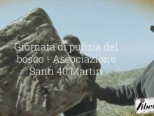Pulizia del bosco - Associazione Santi 40 Martiri