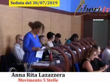 Anna Rita lazazzera (M5S) - Seduta del Consiglio Municipale Roma VII del 30/07/2019