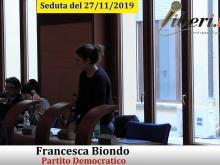 Francesca Biondo (PD) - Seduta del Consiglio Municipale Roma VII del 27/11/2019 Parte 2 di 2