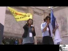 20 settembre 2014 Radicali a Porta Pia durante l'XI Congresso dell'Ass. Luca Coscioni