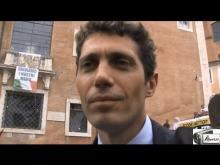 Riccardo Magi alla manifestazione #MARINODIMETTITI