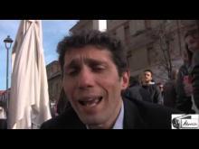 Il Consigliere comunale Riccardo Magi ad Ostia al tavolo di Radicali Roma