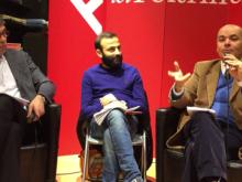 """""""Sangue sporco"""": conversazione con l'autore Giovanni Del Giaccio, Angelo Rossano e Aldo Lisco - LaFeltrinelli di Bari 18/01/16"""