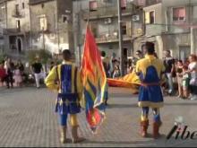 Anteprima con gli sbandieratori di Bisignano - Inaugurazione Castello di Savuto (Cleto)