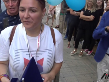 Cosenza Pride 2017. Sergio Mazzuca - Scintille: Consegna una targa al Comitato Pride Cosenza
