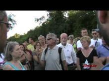 Sit-in di protesta contro l'apertura della discarica a Spregamore (Roma) parte 2 di 2