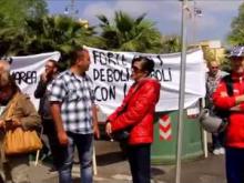 Manifestazione dei gestori delle spiagge libere attrezzate di Ostia