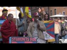 """""""Tibetan Independence Day"""" - Students for a Free Tibet Italy (Roma) 14/02/2015"""
