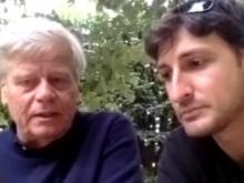 Preparativi con Vincenzo Olita e Riccardo Cristiano - VII Marcia Internazionale per la Libertà