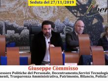 Assessore Giuseppe Còmmisso - Seduta del Consiglio Municipale Roma VII del 27/11/2019 Parte 1 di 2
